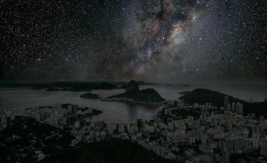 Rio de Janeiro com céu estralado
