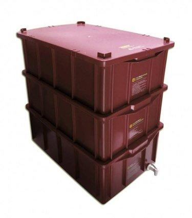 Composteira doméstica kit G + minhocas californianas