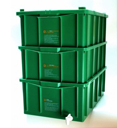 Composteira doméstica kit M + minhocas californianas