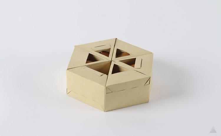 Caixa de ovos alternativa a partir de técnica de origami