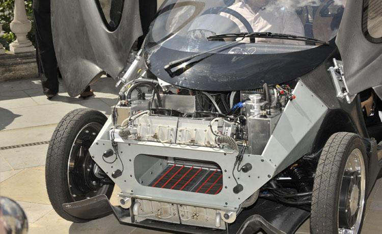 A pilha de combustível do Mk1, que consome hidrogênio para gerar energia elétrica e tem como resíduo apenas água