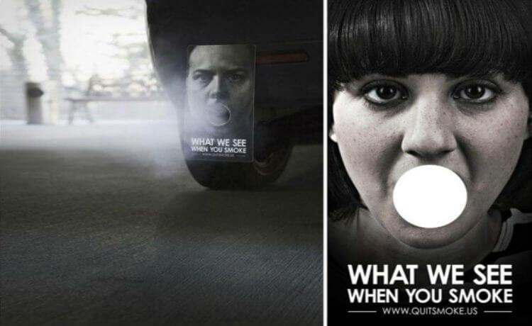 O que nós vemos quando você fuma