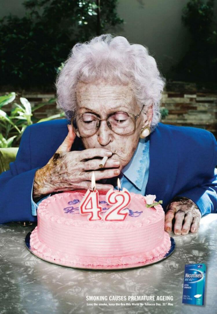 O cigarro causa envelhecimento prematuro