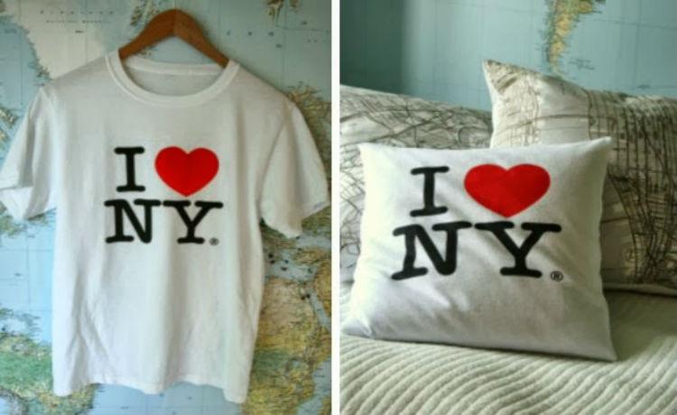 Reutilize aquela camiseta velha para fazer uma linda almofada