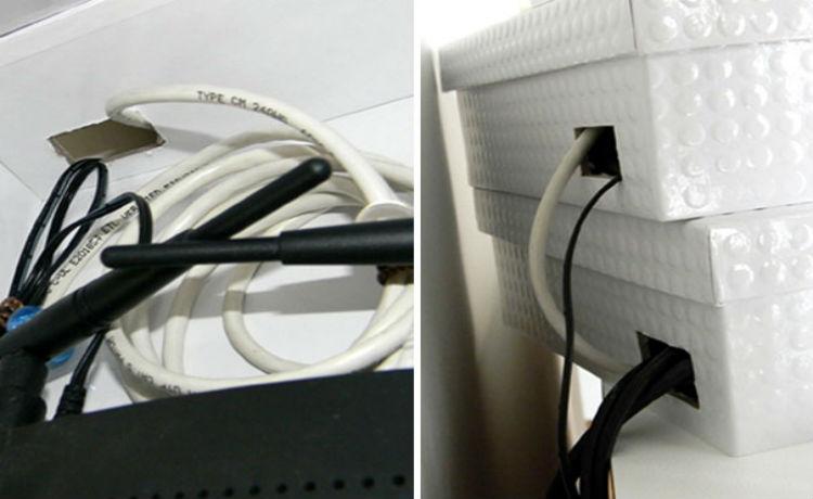 Arrume seu roteador em uma caixa decorativa, assim ele passará despercebido e ainda irá decorar sua sala