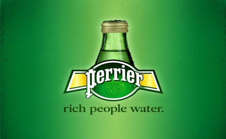 Água de gente rica