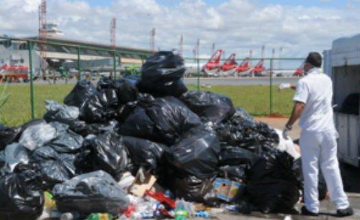 Lixo em aeroporto