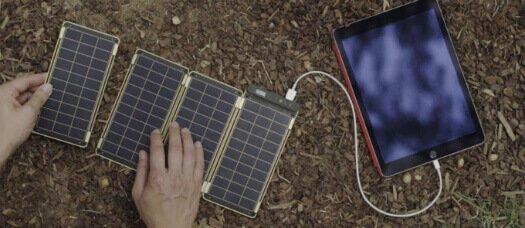 Solar Paper carregando um tablet