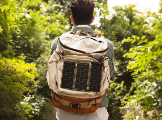 Solar Paper na mochila