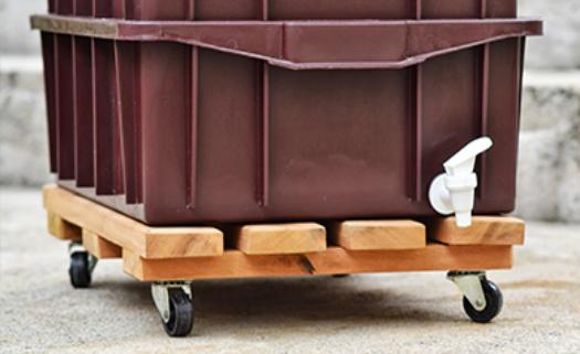 A montagem da composteira é fácil mas importante