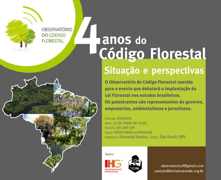 evento codigo florestal