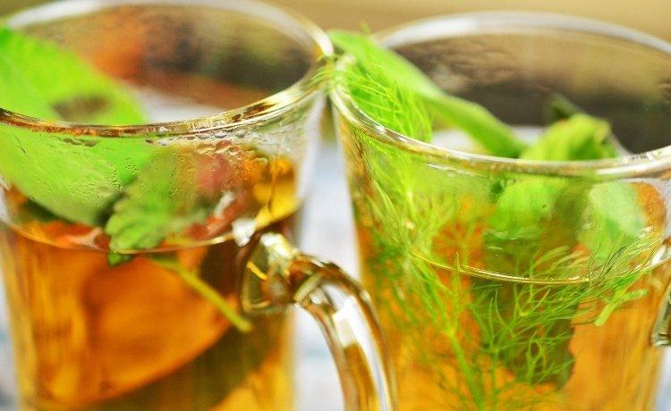 chá de erva-doce e funcho
