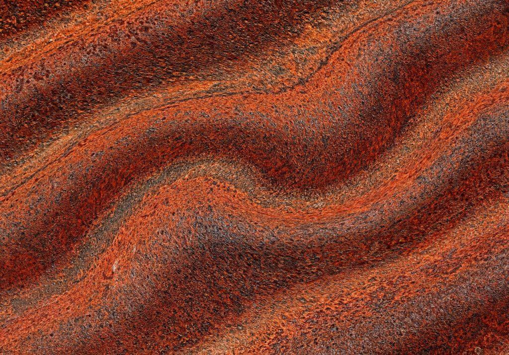 Zoom em um pedaço de ferro