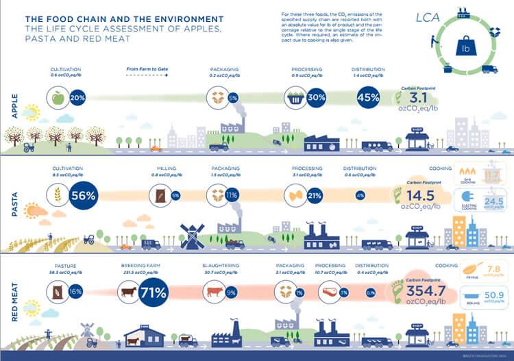 cadeia de produção de alimentos a redução de impacto ambiental