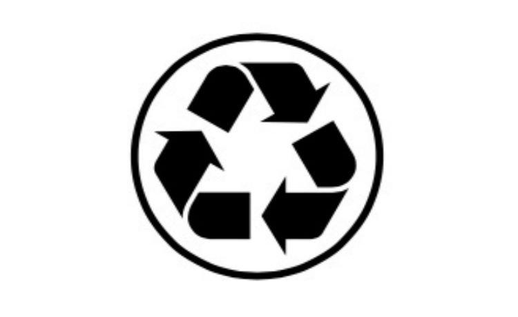 símbolo que indica que o produto contém parcialmente papel reciclado