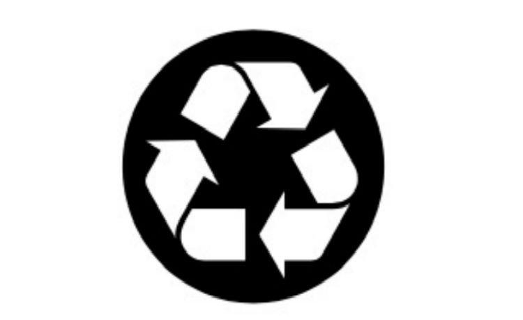 símbolo que indica que o produto contém papel reciclado