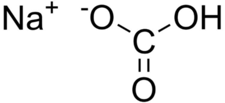Fórmula do bicarbonato de sódio