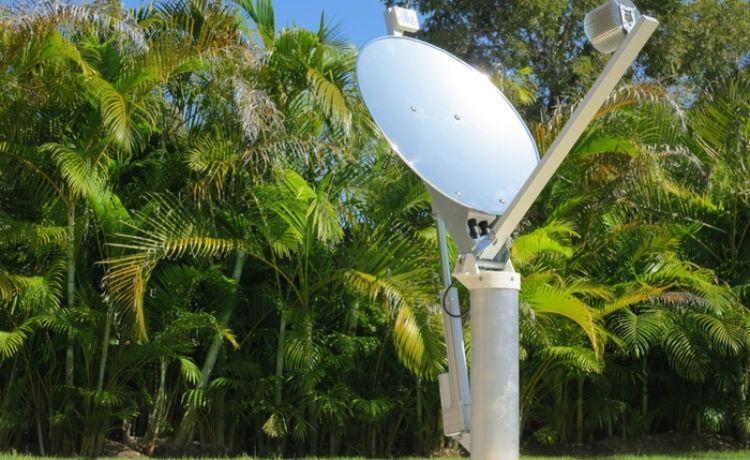 antena capta luz do sol