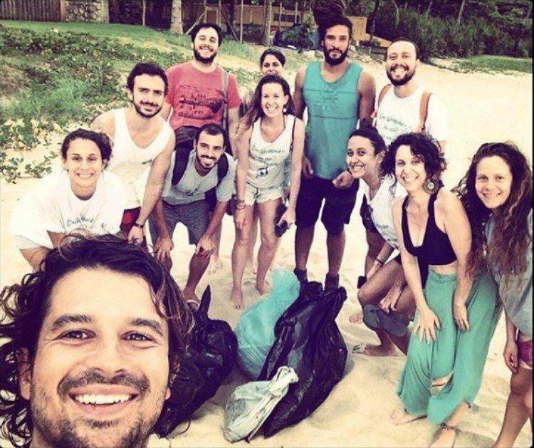 Plogging no Brasil - Maresias - SP
