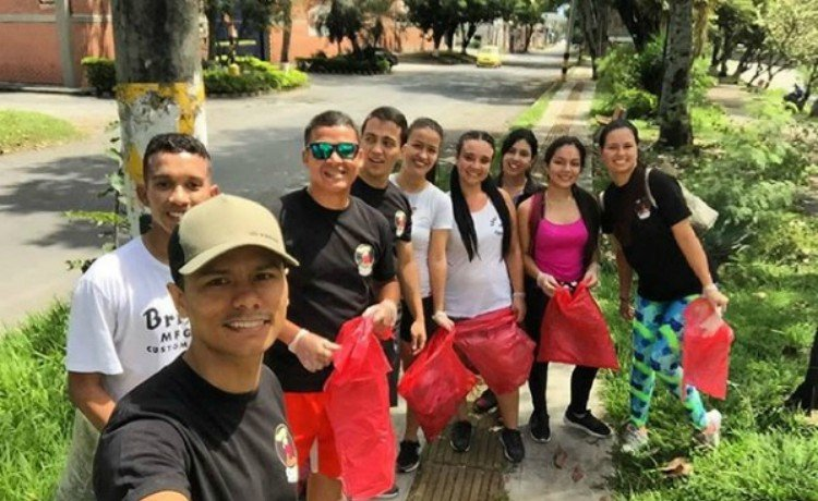 Plogging na Colômbia