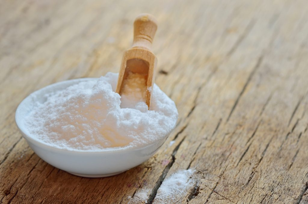 Tigela com Bicarbonato de sódio