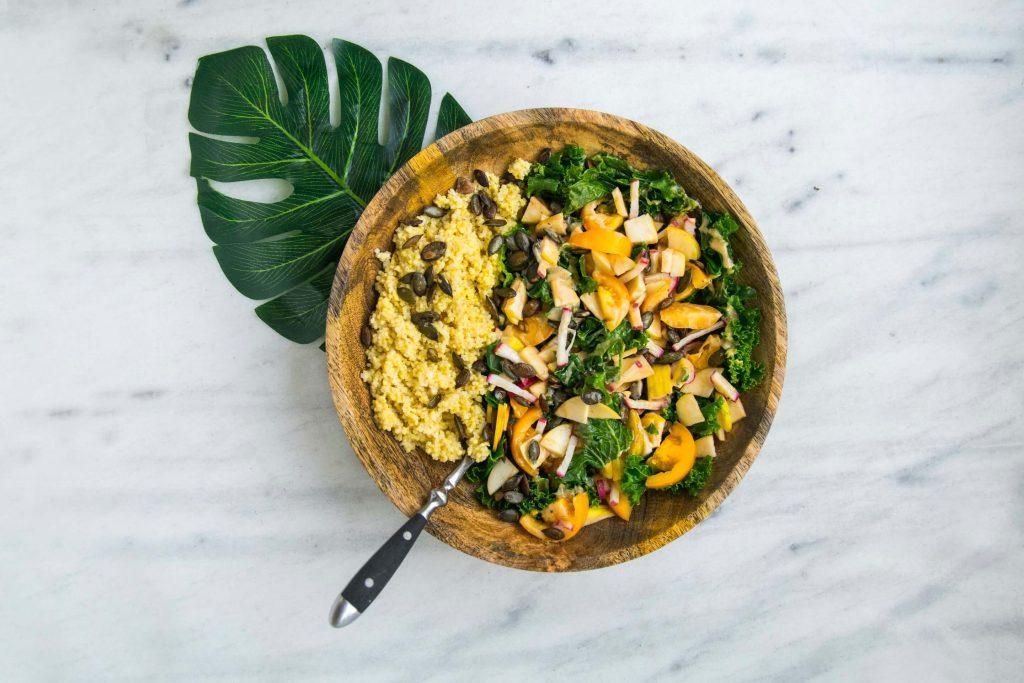 Prato de comida eco-friendly