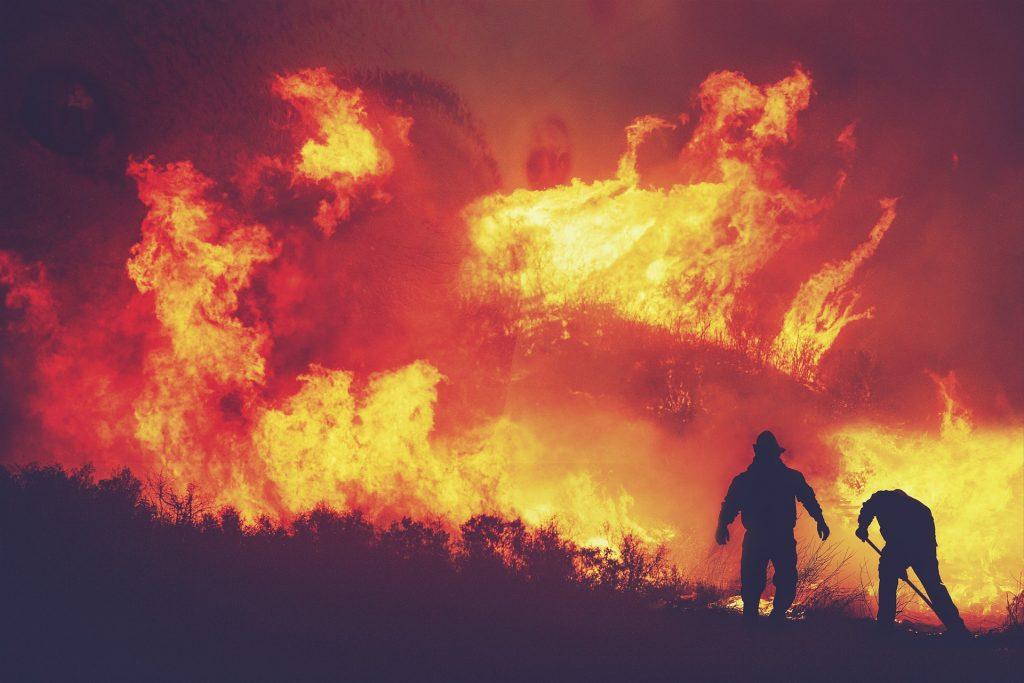 Fumaça de incêndio florestal