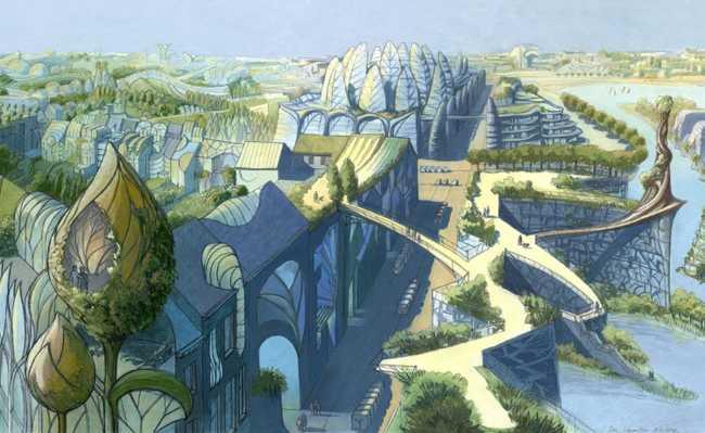 """Projeto """"Cidade Vegetal"""", de Luc Schuiten. Bruxelas, Bélgica, 2009. Imagem: Divulgação"""